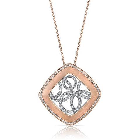 18k Rose Gold Diamond Pendant (160-49)