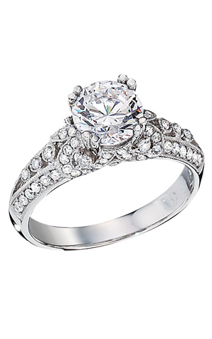14k White Gold Semi - Side Stone Setting (140-24)
