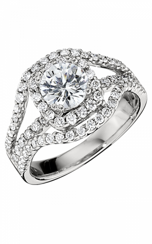 14k White Gold Halo Semi (140-18)