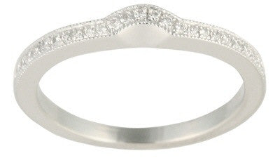 Women's 14k White Gold Wedding Ring (119-90)
