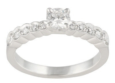 Women's 14k White Gold Side Stone Setting (110-89)