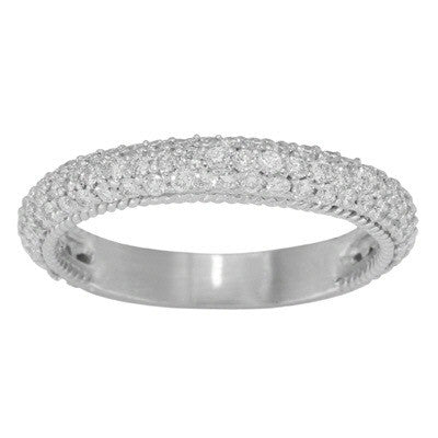 Women's 14k White Gold in Beaded Bezels (110-88)