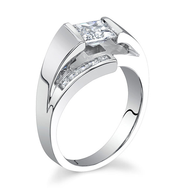 14k white gold by pass style lm 6969 ginsberg jewelers