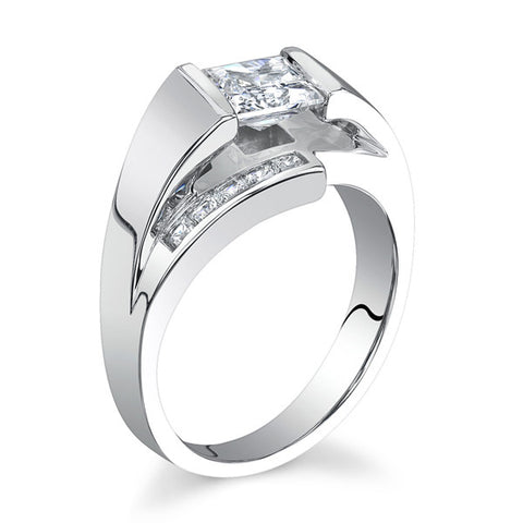 14K White Gold By-Pass Style (LM-6969)