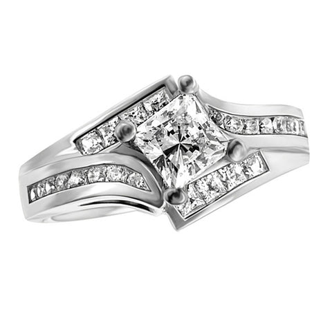 14k White Gold Channel-Set (LM-7001)