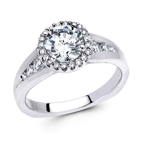 14K White Gold Halo (LM-7307)