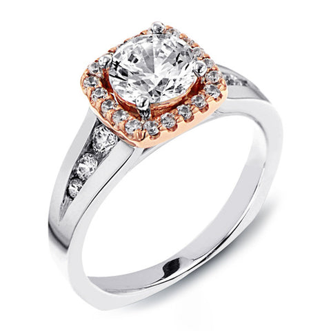 14K White Gold Halo (LM-7565)