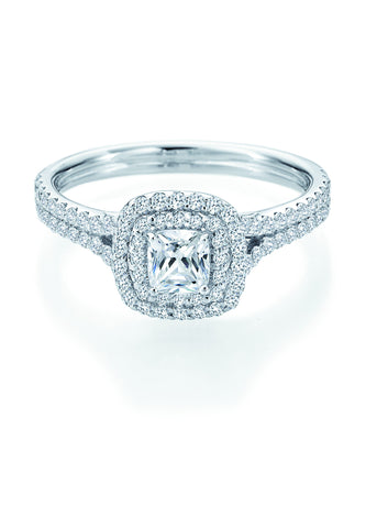 14k White Gold Double Halo (100-2363)