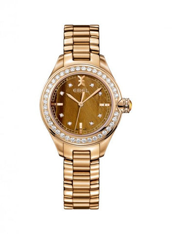 Ebel Women's ONDE 18k Rose Gold Diamond Watch (500-488)