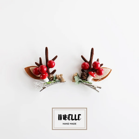 【Christmas】Christmas moose horns bangs clip hairpin
