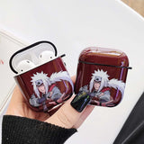 Naruto For Airpods Case Anime Cartoon For Airpod 1/2 For Apple Airpods Case Carbon Fiber Protective Box