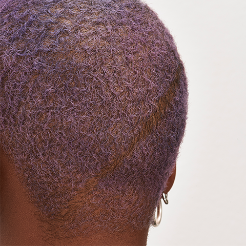 Close up of the back of a mans head