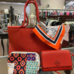 Shop purses, accessories and women's used clothing at Repeat Street Consignment Libertyville, IL
