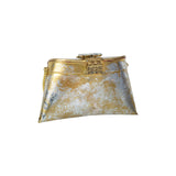 Golden & Silver Foil Clutch Bag - Limited Edition