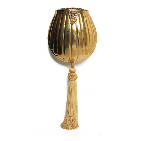 Golden Purse with Tassel