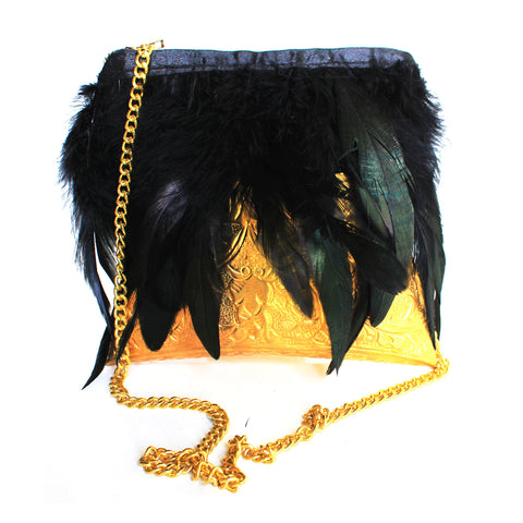 Feather Clutch Bag