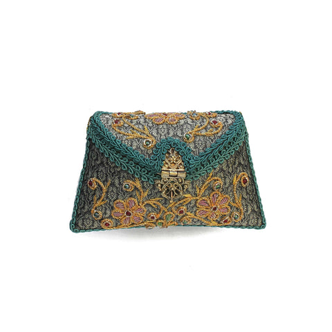 SOLD OUT - Embroidered Clutch Bag