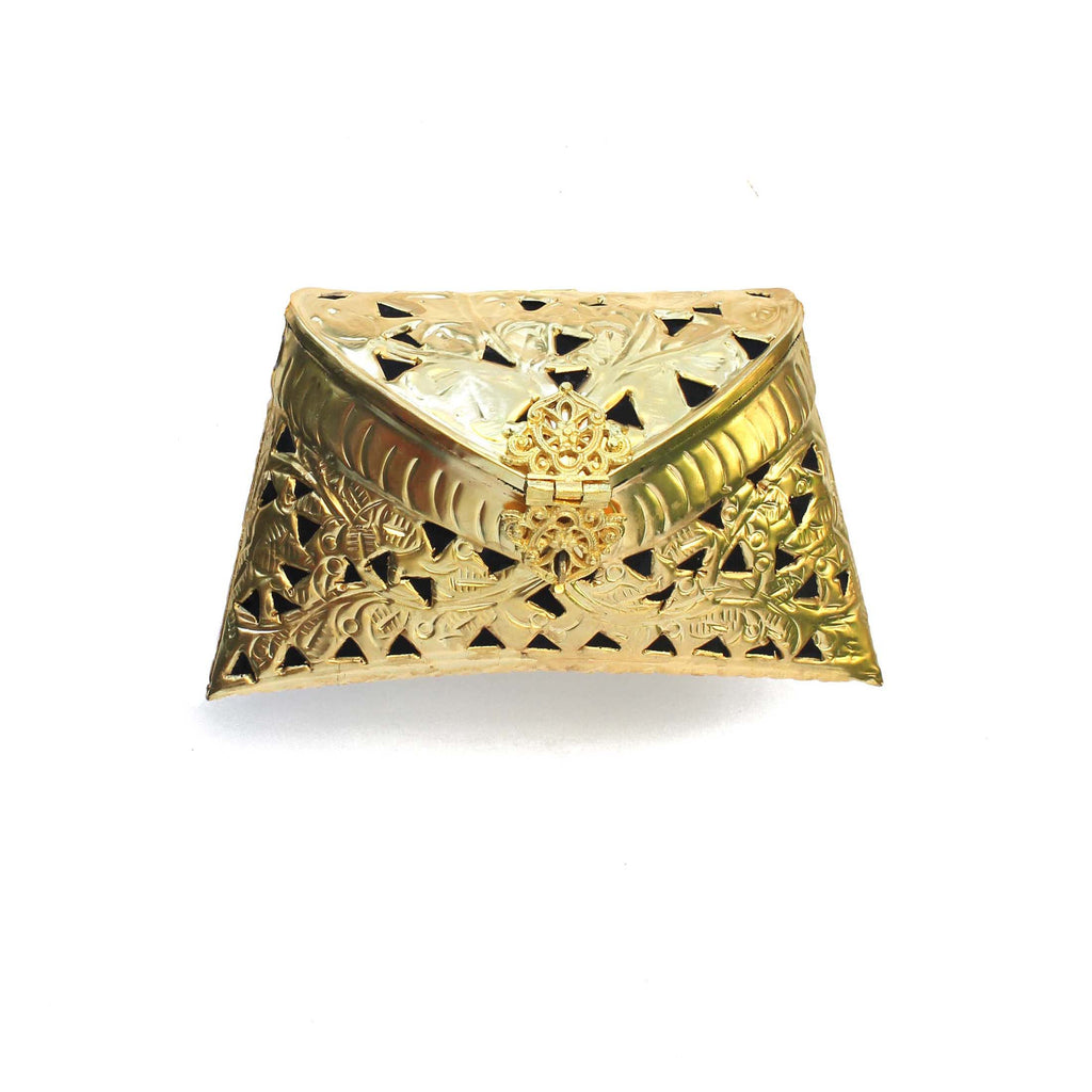 SOLD OUT - Golden Cut Out Clutch Bag