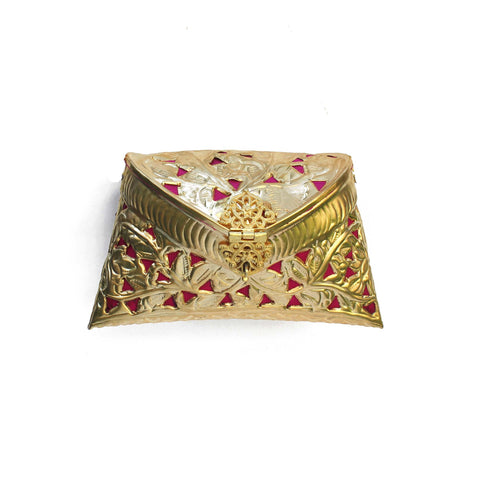 Golden Cut Out Clutch Bag