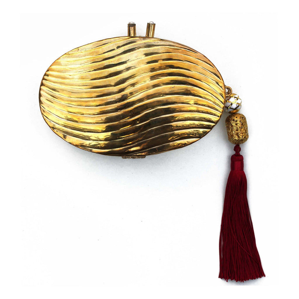 SOLD OUT - Golden Clutch with Tassel