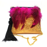 SOLD OUT - Feather Clutch Bag