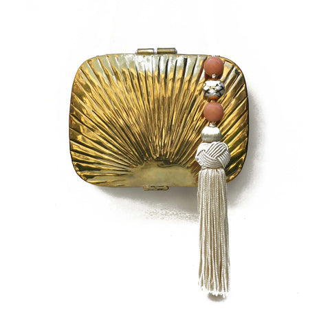 SOLD OUT - Golden Box Bag with Tassel