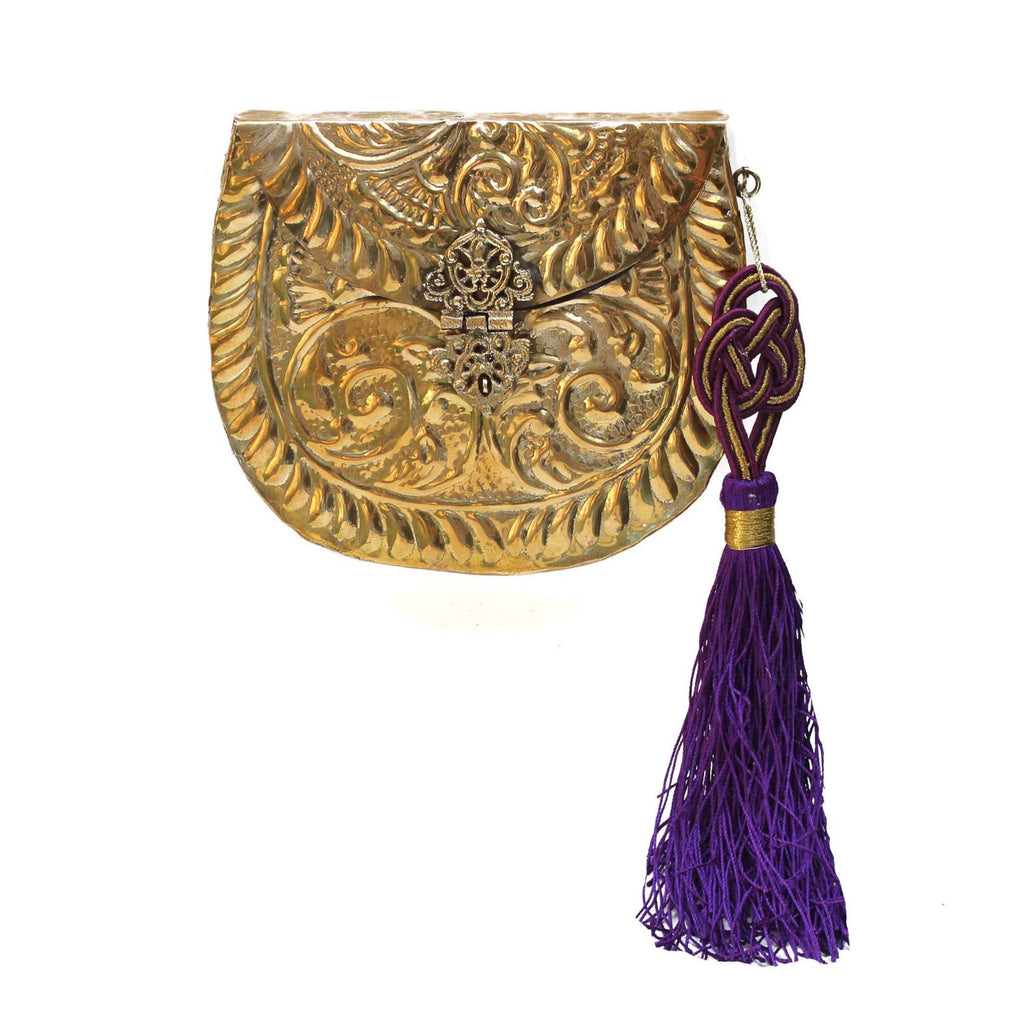 SOLD OUT - Golden Purse with Tassel