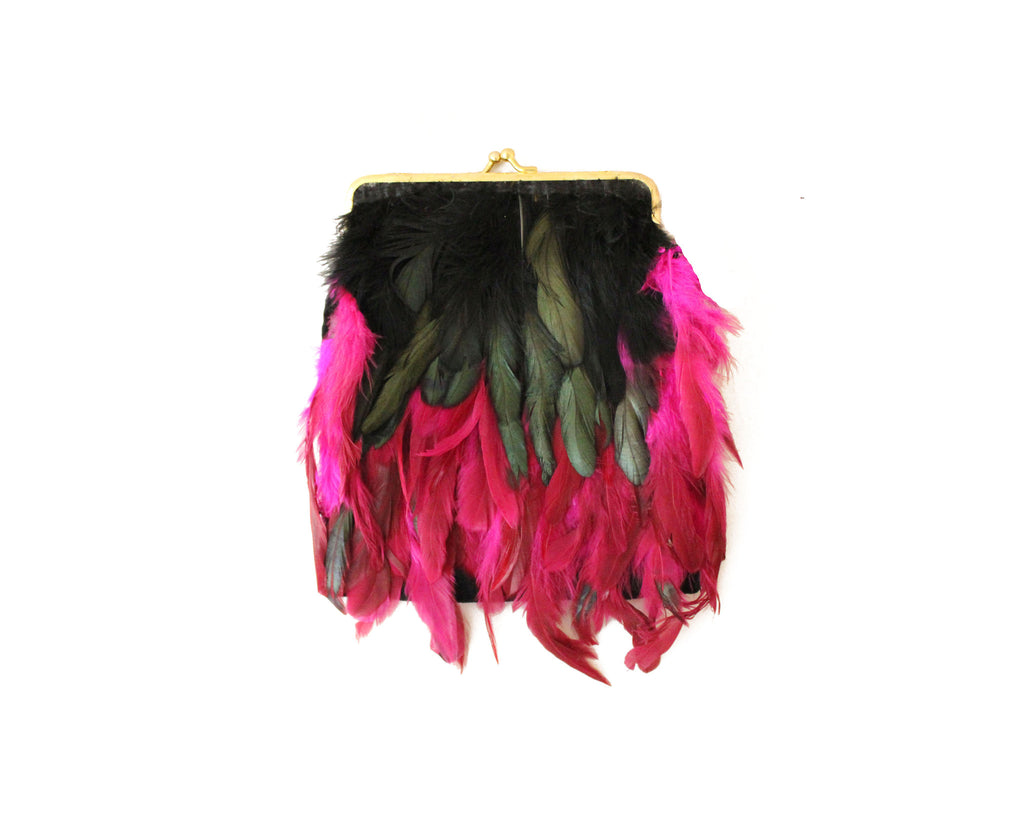 Layered Feather Purse
