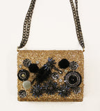Golden Embellished Purse