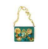 Green Embellished Purse