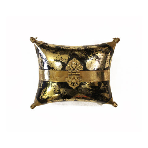 Black & Gold Foil Clutch Bag