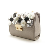 Grey Embellished Bag