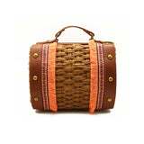 Brown Tribal Straw Bag