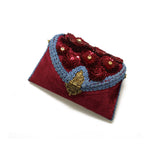 Embellished Velvet Clutch Bag