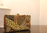 Embellished Golden Tonal Clutch