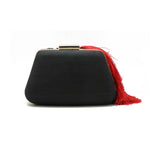 Embellished Black & Red Clutch