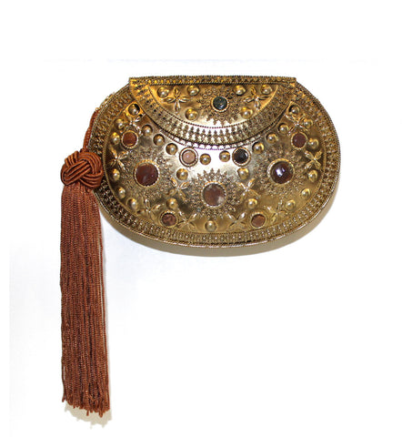 Antique Golden Embellished Purse