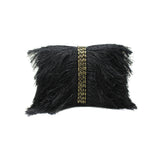 Embellished Fringe Black Evening Bag