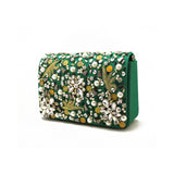 Embellished Green Evening Bag