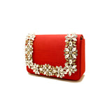 Embellished Red Evening Bag