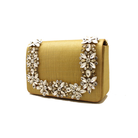 Embellished Beige Evening Bag