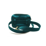 Mini Embellished Green Belt Bag