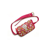 Embellished Pink Belt Bag