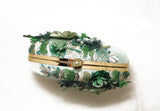 Gardenia Embellished Pastel Green Clutch