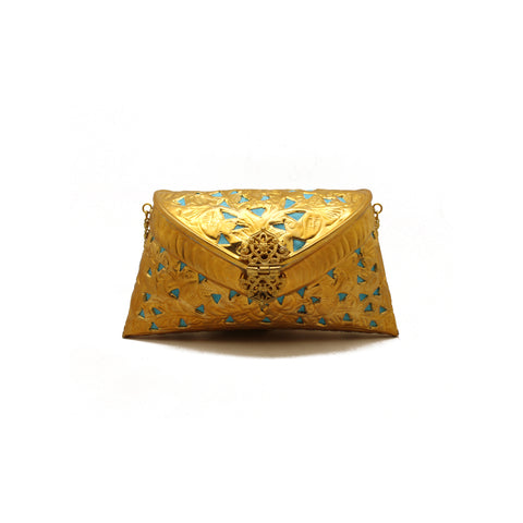 Cutwork Golden Bag