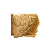 Golden Fringe Evening Bag