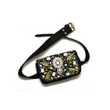 Embellished Black Belt Bag