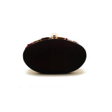 Gardenia Embellished Dark Red Clutch