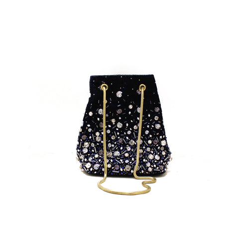 Céleste Mini Blue Bucket Bag