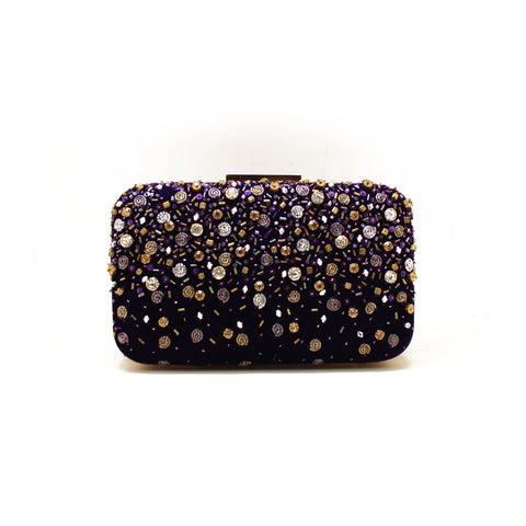 Céleste Purple Clutch